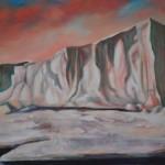 heidi-heiser-_-eisberg-in-rot-_-60x100-_-2011-_-acryl-auf-leinwand