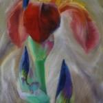 Heidi Heiser_Iris II_ 100x50 _ 2012 _ Öl auf Leinwand