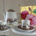 Afrikamotive auf Porzellan